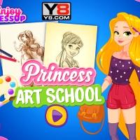 Игра Школа рисования: Принцессы Диснея