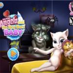 Игра Беременная Анжела и Говорящий кот Том