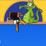 Игра Крокодильчик Свомпи ловит рыбу