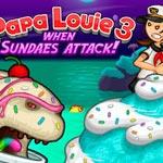 Игра Папа Луи 3: Атака мороженого