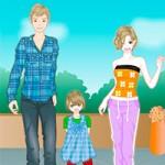 Игра Одевалки семьи