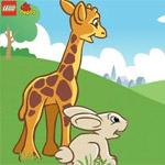 Игра Лего дупло жираф и заяц