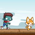 Игра Бегалка на двоих: Собачка против зомби
