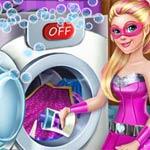 Игра Уборка Барби: Стирка