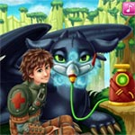 Игра Приручить дракона: Иккинг лечит Беззубика