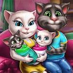 Игра Кошка Анжела: Домашние хлопоты