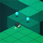 Игра Майнкрафт: Бег над пропастью