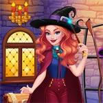 Игра Одевалка милой колдуньи