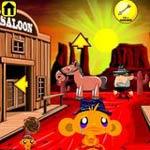 Игра Счастливая обезьянка 13: Дикий Запад