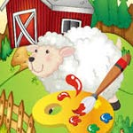 Игра Разрисуй зверушек на ферме