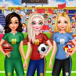 Игра Принцессы на футболе геймплей