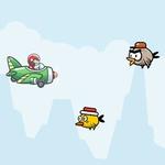 Игра Самолетик против птичек геймплей