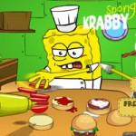 Игра Губка Боб готовит крабсбургер