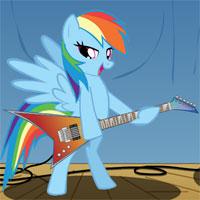 Пони Радуга Дэш с гитарой